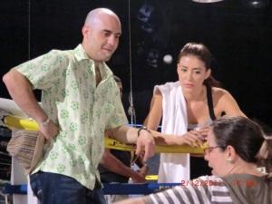 En el Rodaje de ¨Hasta que la Muerte Nos separe¨con Karina Velásquez y Carlos Moreno